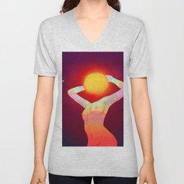Sun Head Unisex V-Neck