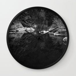Shoreline Reflection On the Water Wall Clock