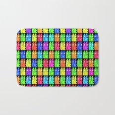 Pixel Gummy Bears Bath Mat