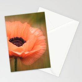 Soft Pink Poppy Stationery Cards