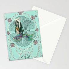 Mermaid Deco Stationery Cards
