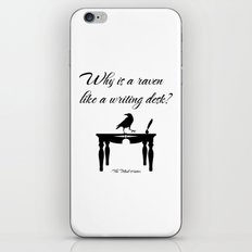 Alice In Wonderland Why Is A Raven Like A Writing Desk iPhone & iPod Skin
