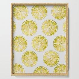 Yellow Citrus Serving Tray