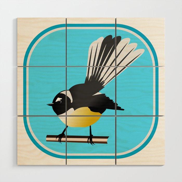Fantail Nz Bird Wood Wall Art By Mailboxdisco