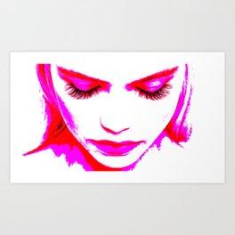 Pink Girl (transparent) Art Print