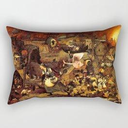Mad Meg by Heironymus Bosch Rectangular Pillow