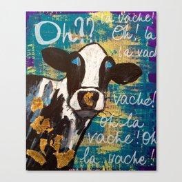 oh la vache! Canvas Print