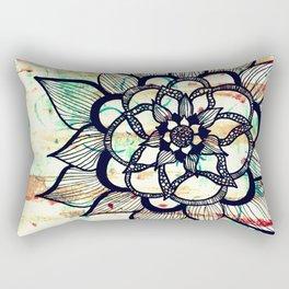 Vintage big flower collage Rectangular Pillow