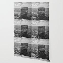 Dun Briste II Black and White Wallpaper