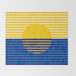 Yellow Split Sun Throw Blanket