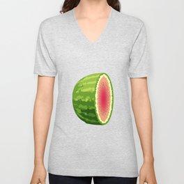 Water Melon Cut In Half Unisex V-Neck