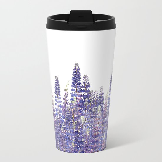 Just Lupine Metal Travel Mug