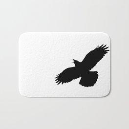 Raven silhouette Bath Mat