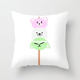 Animal Dango Throw Pillow