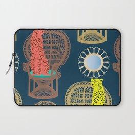 Rattan Cheetah Chairs + Mirrors Laptop Sleeve