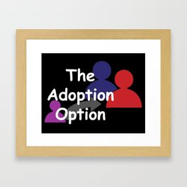 """The Adoption Option"" TV Show Logo Framed Art Print"