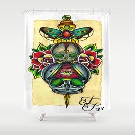 Fetal Skulls and Dagger Shower Curtain
