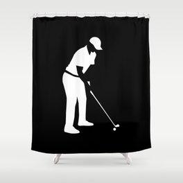 Golf player Shower Curtain