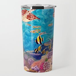 Zach's Seascape - Sea turtles Travel Mug