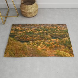The view On Top of Castle Craig.... photography Rug