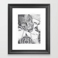 Sinestro Framed Art Print