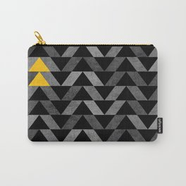 Triangle -Yellow and Grey Carry-All Pouch