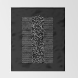 Joy Division Unknown Pleasures Throw Blanket