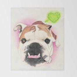 English Bulldog - F.I.P. - @LucyFarted Throw Blanket