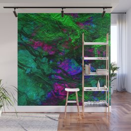 funky abstract waves Wall Mural