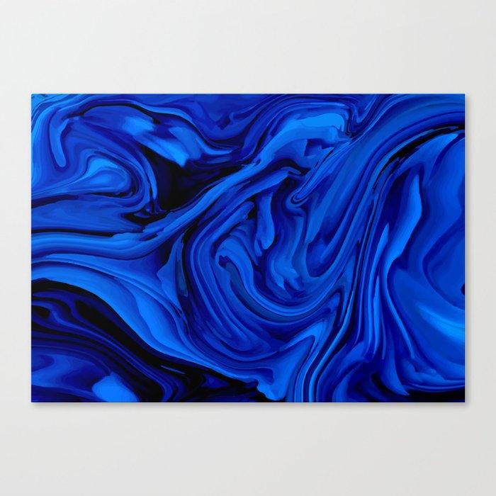 Blue Liquid Marbled texture Leinwanddruck
