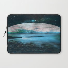 Mystic Lake Blue Green Laptop Sleeve
