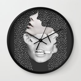 collage art / Faces 2 Wall Clock