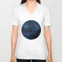 map V-neck T-shirts featuring Celestial Map by Rose's Creation
