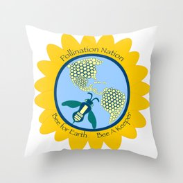 Save Bees, Bee a Keeper Throw Pillow