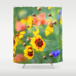 Where the wildflowers bloom Shower Curtain