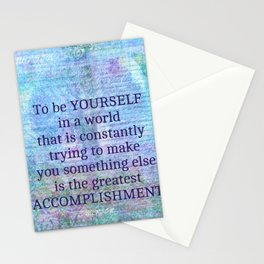 Emerson individuality quote Stationery Cards