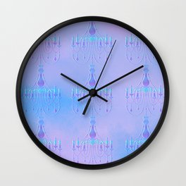 Embossed Chandelier Wall Clock