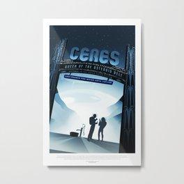 Ceres - NASA Space Travel Posters (Alternative) Metal Print