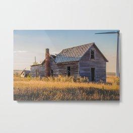Falling Farm House, North Dakota 9 Metal Print