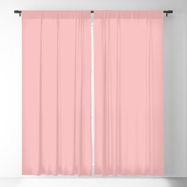 Solid Powder Pink Color Blackout Curtain