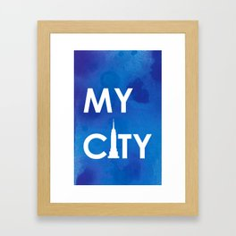 MyCity-NYC-BlueA Framed Art Print