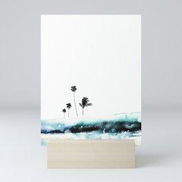 Palm 04 (Blue) Mini Art Print
