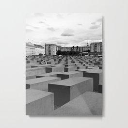 Berlin Jewish Memorial - Black & White Metal Print