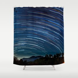 Star trail Shower Curtain