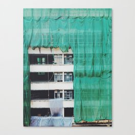 Bamboo Scaffolding Hong Kong Canvas Print