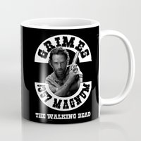 rick grimes Mugs featuring Rick Grimes & .357 Magnum by SwanniePhotoArt