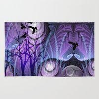 bebop Area & Throw Rugs featuring Magical Swamp by thea walstra