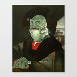 Creature from the Italian Renaissance: Giuliano De Medici meets Black Lagoon Canvas Print