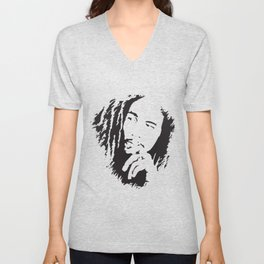 Marley Mens Reggae Jamaica Wailers Jamaican  wife T-Shirts Unisex V-Neck