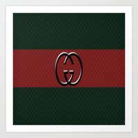 gucci Art Prints featuring Gucci 1 by Beauti Asylum